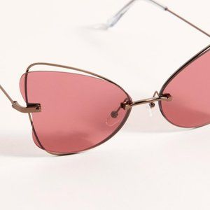 NWT Free People Painted Lady Sunglasses in Rose